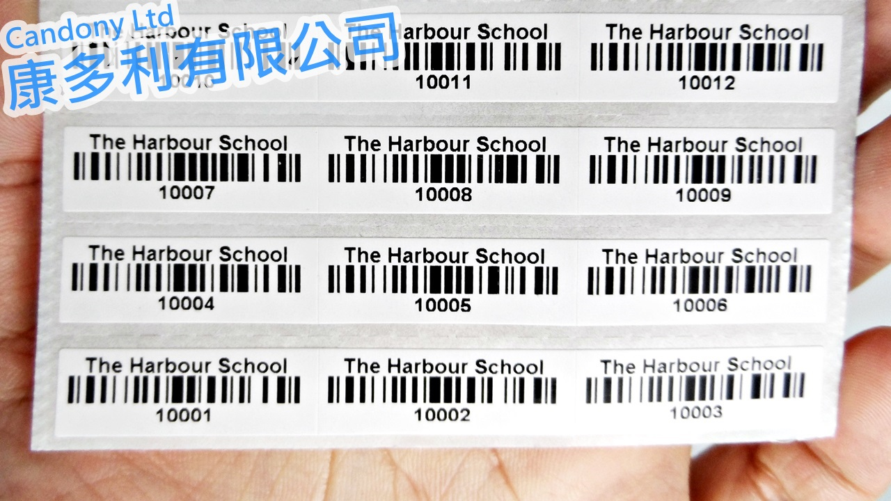 barcode label for library