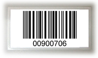 ITF 標籤, Label with interleaved 2 of 5 barcode