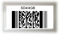 Label with 2D barcode PDF417 (used on electronic products)